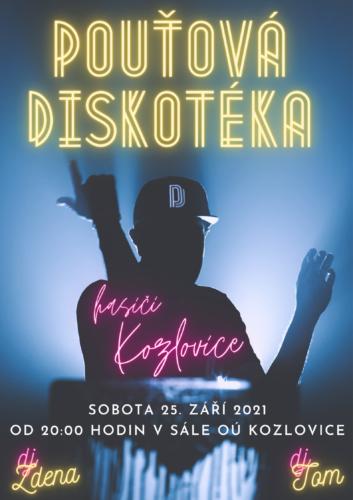 Pouťová diskotéka - plakát